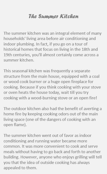 history of the summer kitchen