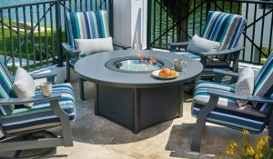 round fire table chat height