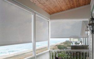 roller shades on balcony to provide shade
