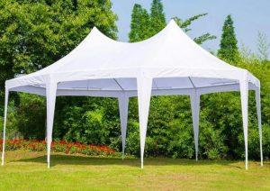 large backyard pop up tent