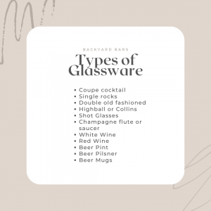 backyard bar glassware list