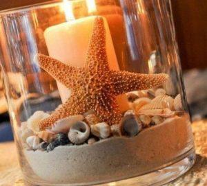 themed beach candle lantern