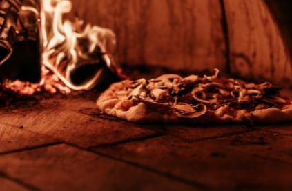 firebricks on the floor of a pizza oven