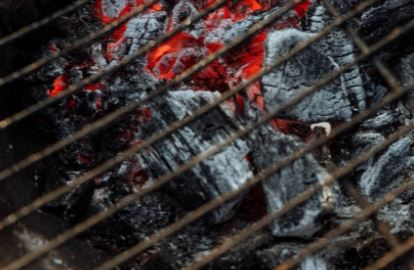 old rusty charcoal grill grates